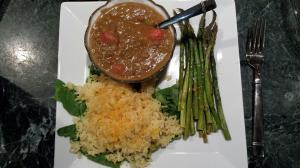soup rice asparagus